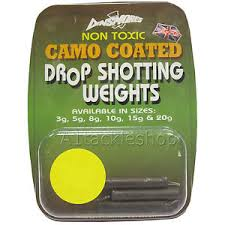 Lure Fishing Drop-Shot Weight - Dinsmore Camo Coated Non-Toxic