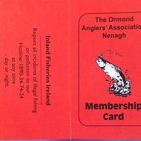 Ormond Anglers Annual Membership/License Cards Adult