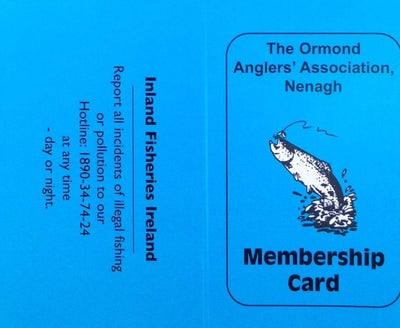 Ormond Angler's Association Nenagh - Annual Membership (2021) - Adult Associate Blue