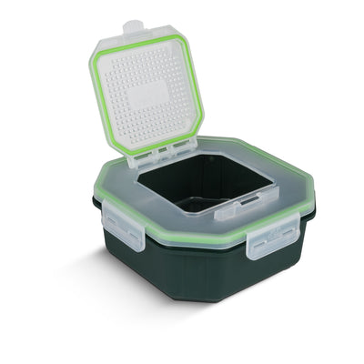 Grey's Klip-Lok Flip-Top Bait Box with Perforated Lid