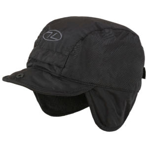 Black Highlander Mountain Hat - Waterproof & Fleece Lined, with Ear Flaps
