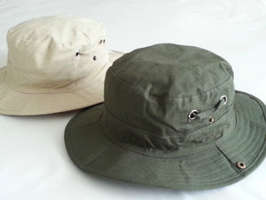 Unisex Safari Hat Outwear Adventure - Dark Olive and Khaki