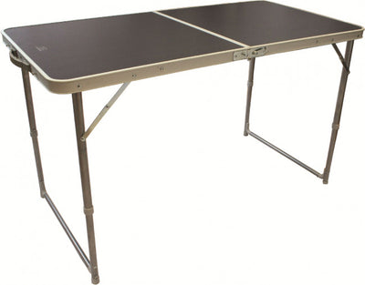 Highlander Compact Folding Camping Table Open View