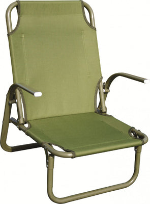 Highlander Kirkin Steel Beach Chair Olive Green
