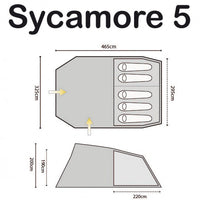 OpenSeason.ie Camping Experts - Sycamore 5 Man Easy Pitch Tent Interior Configuration