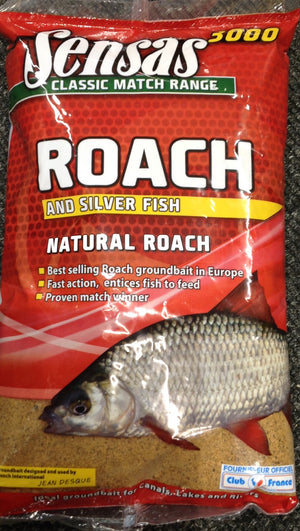 Sensas Natural Roach & Silver Fish Groundbait 1kg