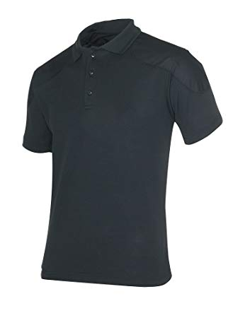 Polo Travel Shirt S/S Men's Black - Outdoor Clothing OpenSeason.ie