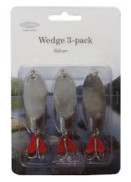 Lure - 3 Pack Silver Wedge 38g