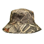 Percussion Brocard Skintane Reversible Camo Hat - Realtree Ghost Camo Wet & Colours with Hi-Viz Orange on Reverse