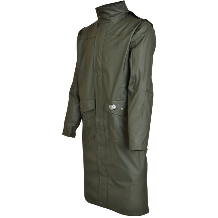 Percussion Impersoft Long Hunting Coat with Game Bag