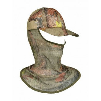 Hunting at OpenSeason.ie Percussion Camo Shooting Hat Integrated Veil