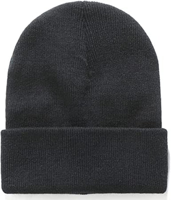 Plain Black Knit Cuffed Beanie Hat - Online Outdoor Shop - OpenSeason.ie
