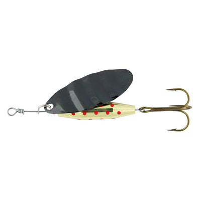 Shakespeare Reflex Arctic Spinner Lure - 12g - Black/Gold