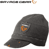 Knit Peaked Beanie with Savage Gear Logo