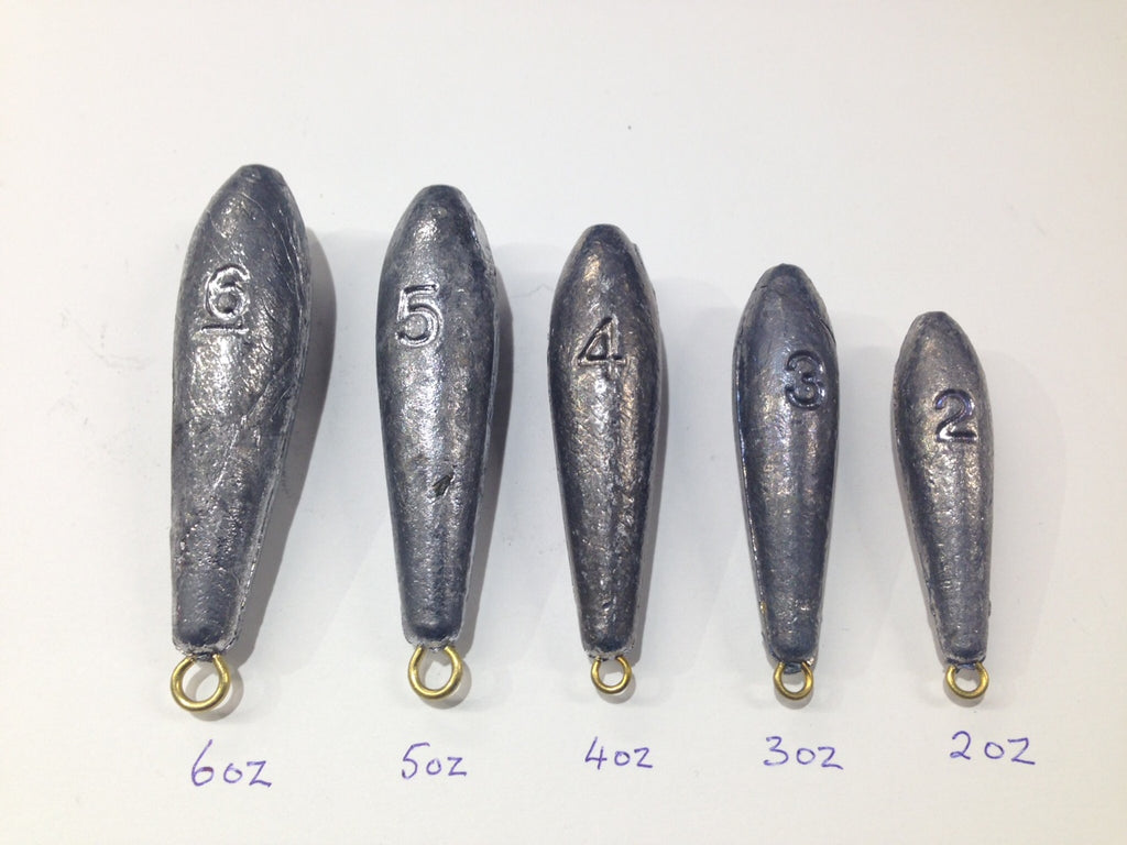 Sea Fishing - Plain Bomb Sea Leads - Various Weights - OpenSeason.ie
