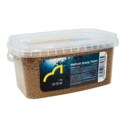Coarse Fishing Groundbait - SPOTTEDFIN GO2 Method Ready Pellets - 2kg Tub - Classic Corn