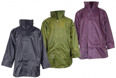 Kids' Waterproof Rain Jacket - Stormguard Packaway - Unisex - Navy