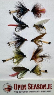 Open Season Wet Trout Flies - Mixed Selection of 10