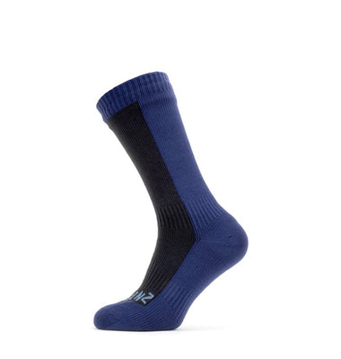 Sealskinz Waterproof Mid-Length Sock - Breathable & Insulated - Mid-Blue