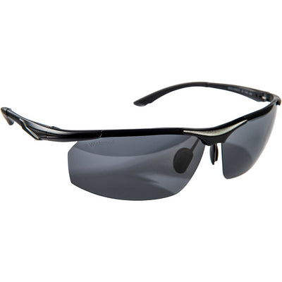 Wychwood Aura Polarised Fishing Sunglasses - Black/Black Lens
