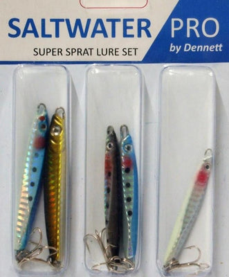 Dennett Saltwater Pro Super Sprat Assorted Lure Set - 5 Pack