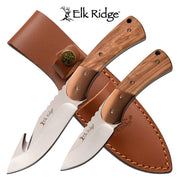 "Elk Ridge Fixed Blade Double Hunting Knife Set - 8"" & 6"""