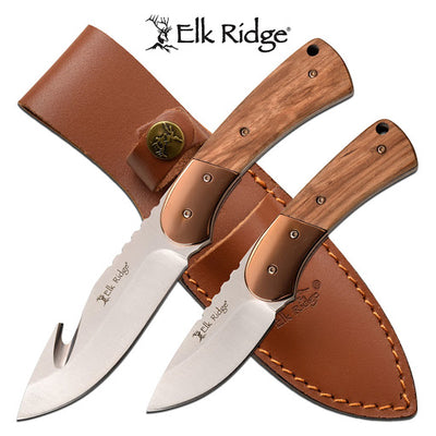 Elk Ridge Fixed Blade Double Hunting Knife Set - 8