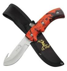 Elk Ridge Fixed Blade Hunting Knife with Guthook - 8.75