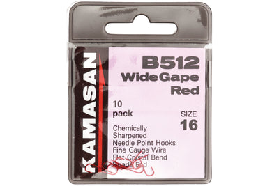 Kamasan Coarse Hooks - B512 - Wide Gape Red at OpenSeason.ie