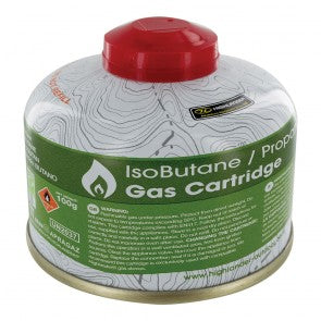 Highlander 100g Valved Gas Cartridge for Camping Stoves