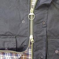 Hoggs of Fife Padded Waxed Waistcoat Close-Up - Hunting/Fishing/Farming