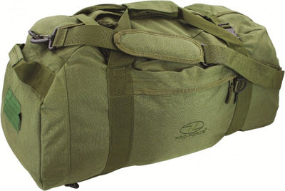 Hiking, Camping & Outdoors Highlander 65L Olive Green Holdall Loader OpenSeason.ie