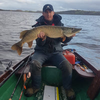 OpenSeason.ie Customer with large pike caught on Allcock Shannon Spoon