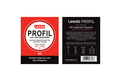 Leeda Profil Knotted Tapered Leader - 2 Droppers