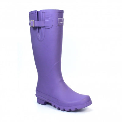 Lunar Largo Purple Wellingtons - Women's