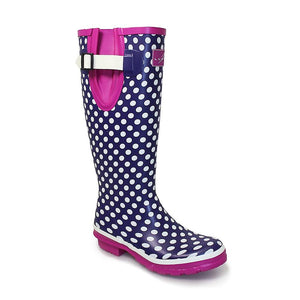Lunar Polka Dot Wellingtons - Purple - (Women's)