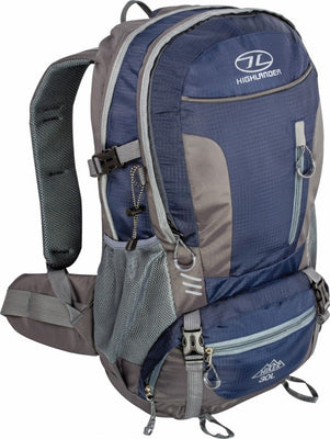 Highlander Hiker Rucksack - 30L and 40L - Navy Blue