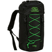 Camping, Hiking Rucksack Highlander Rambler 20L Black/Lime Green