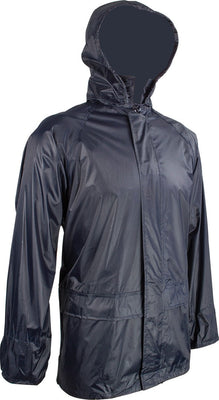 Adult Waterproof Rain Jacket - Stormguard Packaway - Unisex - Navy