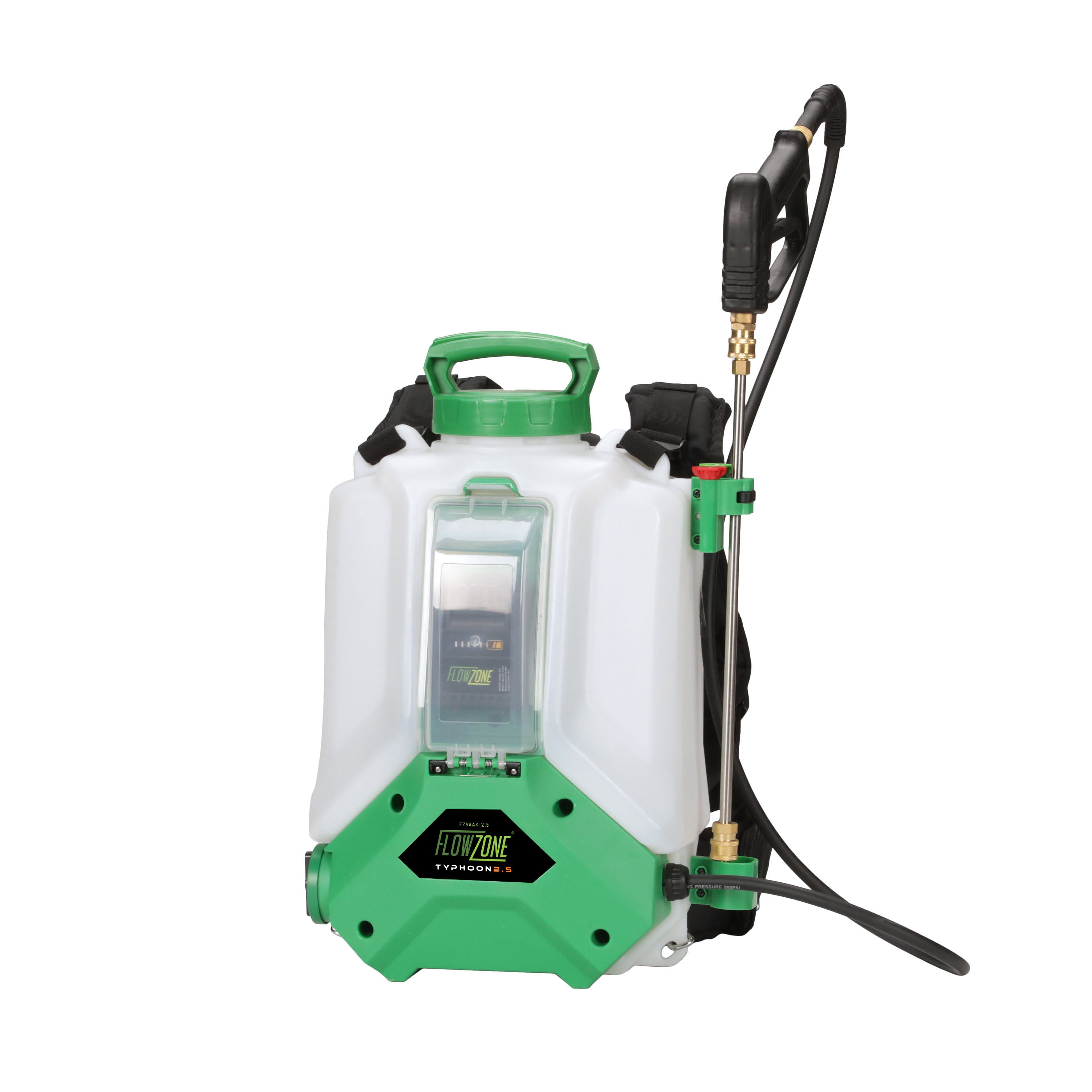 Typhoon 2.5 Variable Pressure 5-Position Battery Backpack Sprayer (4-Gallon)