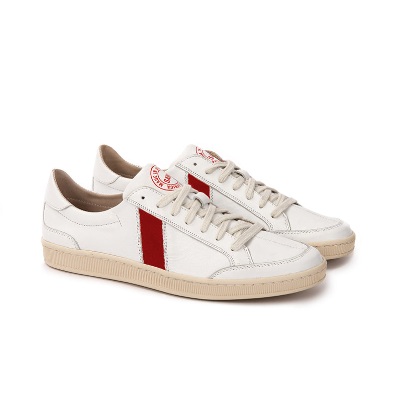 SAWA SHOES LAFRICA LEATHER WHITE RED