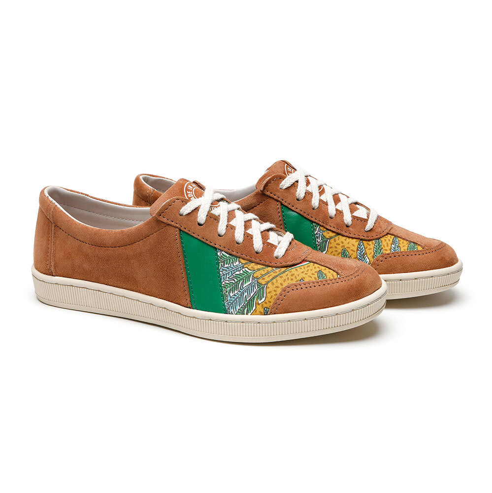 SAWA SHOES DR BESS SUEDE SNUFF GREEN