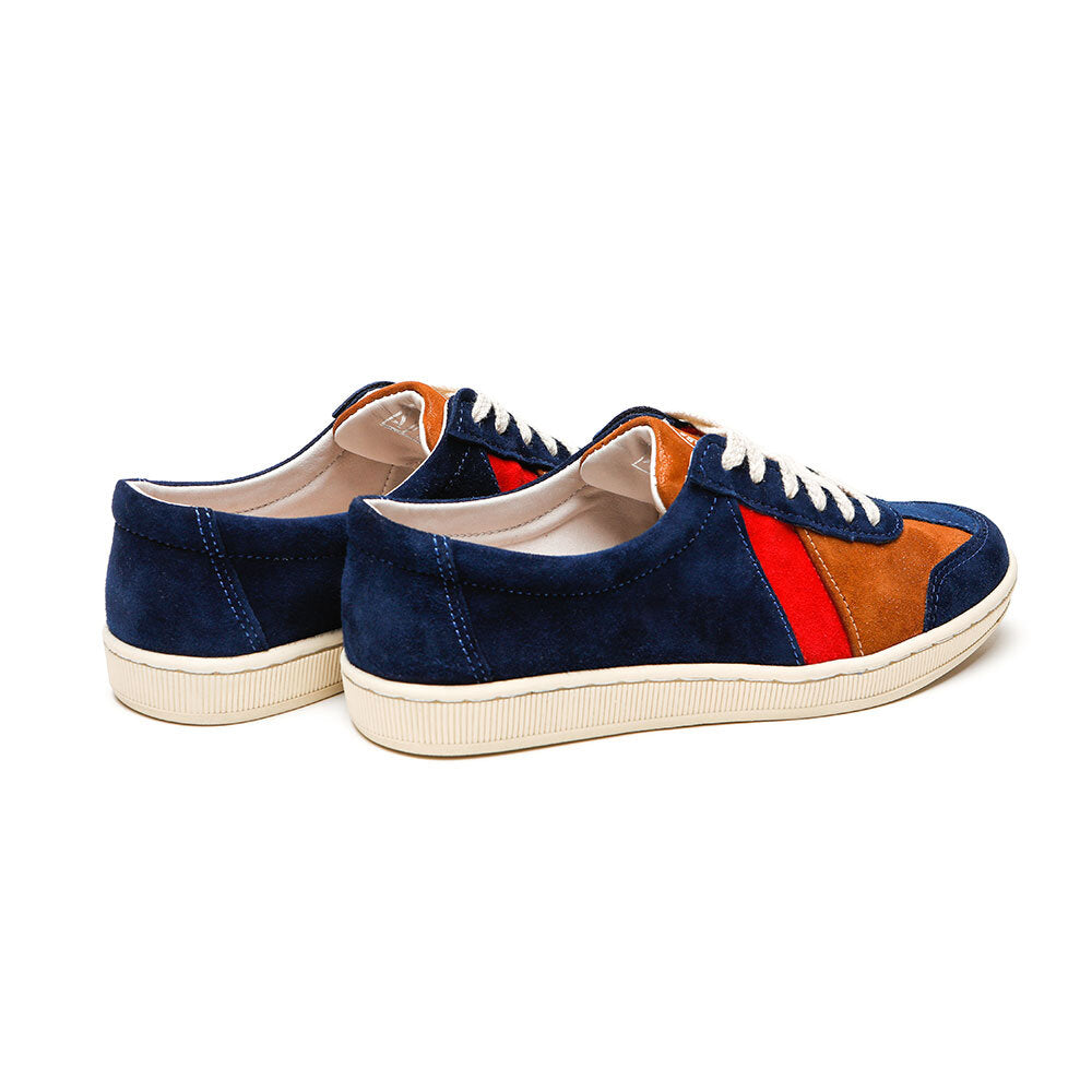 SAWA SHOES DR BESS BLUE METAL