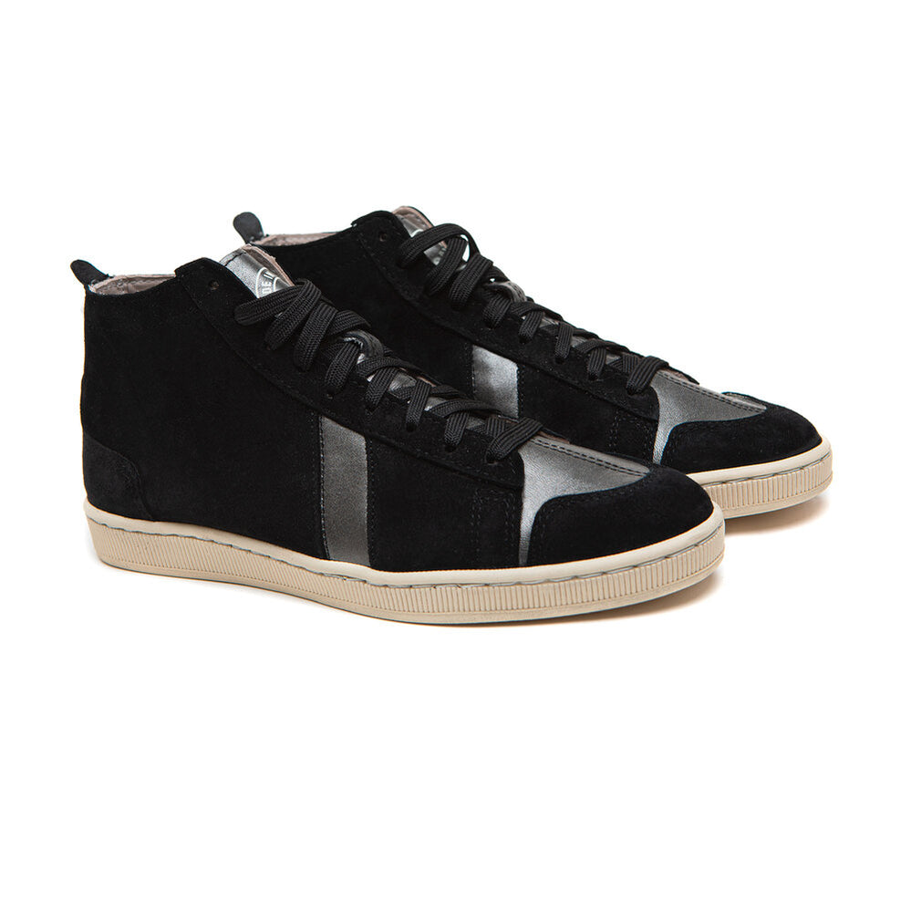 SAWA SHOES TSAGUE SUEDE BLACK SILVER