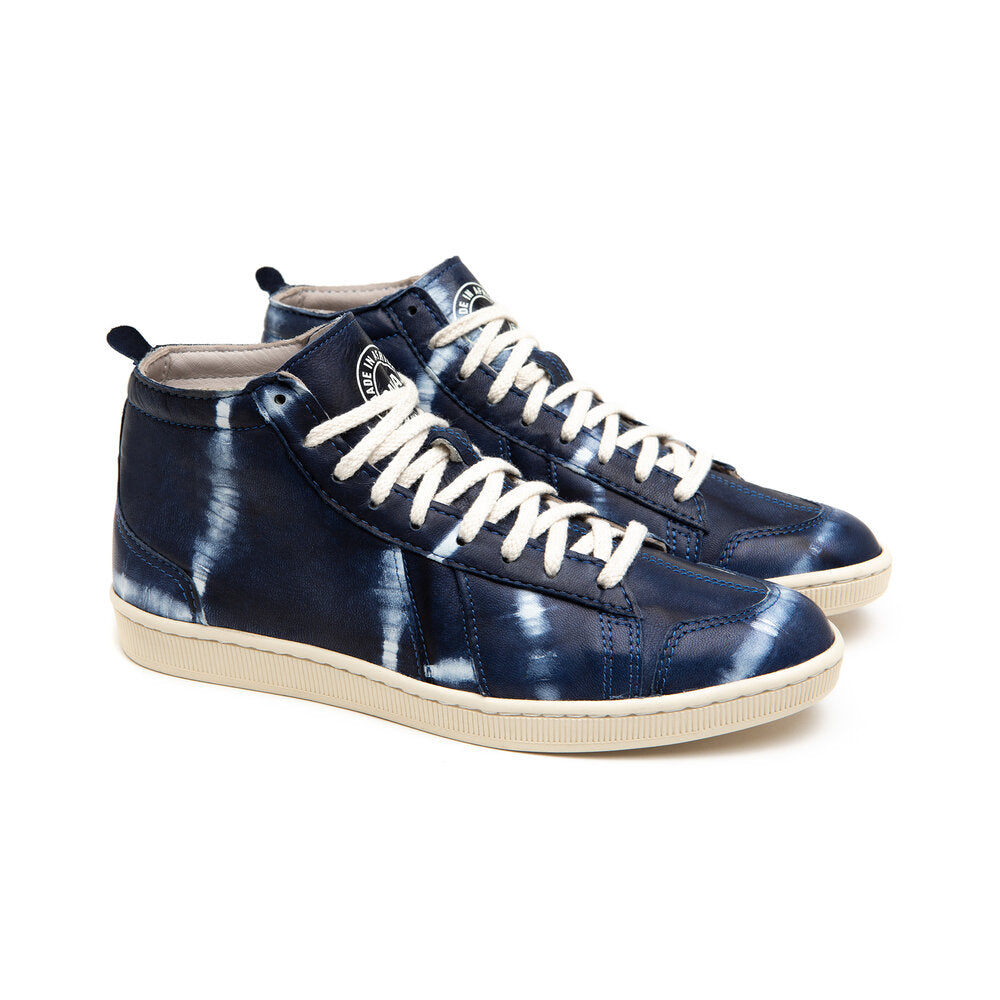 sawa shoes tsague tye and dye indigo