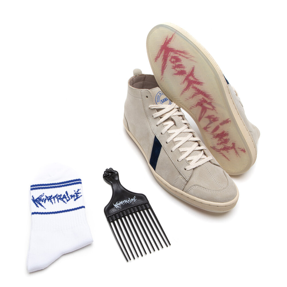 SAWA SHOES X KOURTRAJME PACK TSAGUE SUEDE BLUE