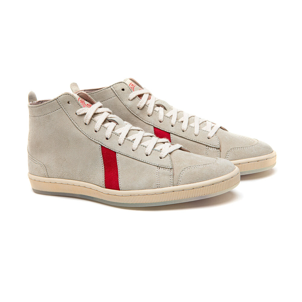SAWA X KOURTRAJME TSAGUE SUEDE WHITE RED