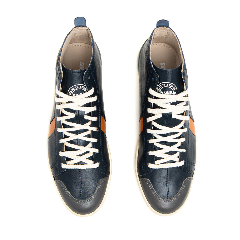 Charger l'image dans la galerie, sawa shoes tsague navy orange grey