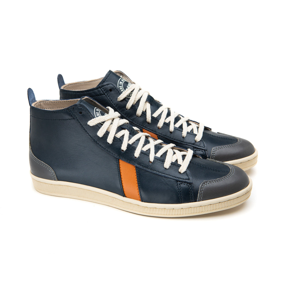 sawa shoes tsague navy orange grey