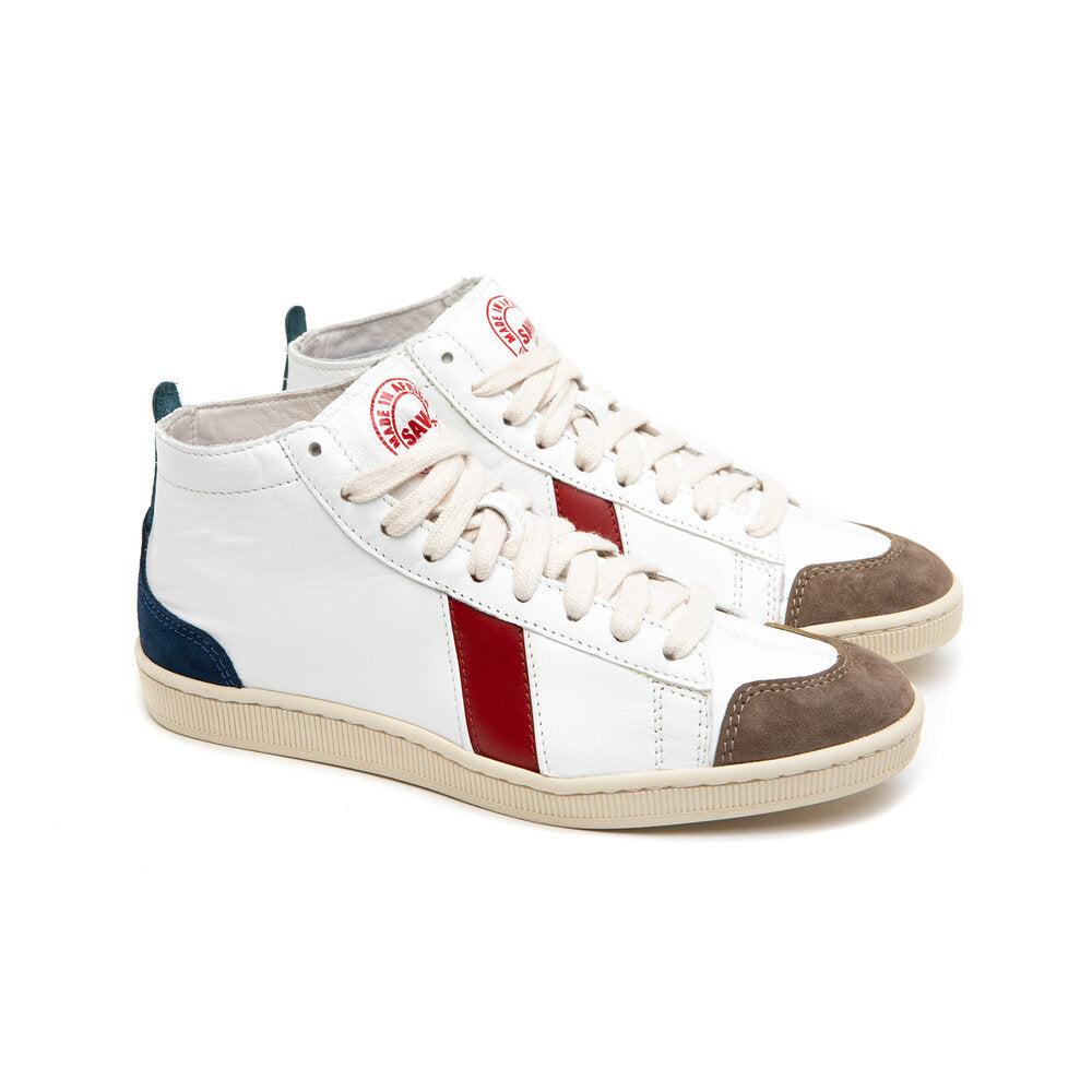sawa shoes tsague white RED BLUE